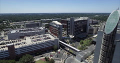 Aerial Of Florida Hospital On Sunny Day Stock Footage