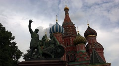 Monument to Minin and Pozharsky. Red Square, Moscow. 4K. Stock Footage