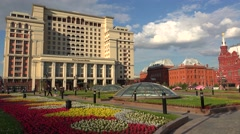 Four Seasons Hotel in Moscow. 4K. Stock Footage