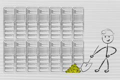 Data mining and business intelligence Stock Illustration