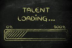 Funny progress bar with talent loading Piirros