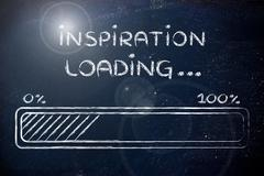 Funny progress bar with inspiration loading Piirros