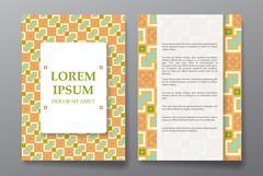 Cover brochure design. Arabic traditional decorative elements. - stock illustration