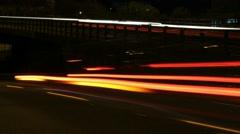 Close up of traffic speeding by ramp. Stock Footage