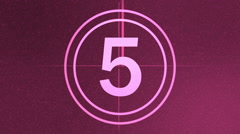 Film countdown leader on a pink background - stock footage