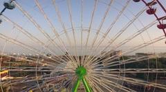 Aerial view of Ferris wheel Stock Footage