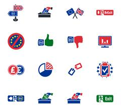 Brexit British referendum concept icons Stock Illustration