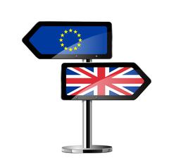 Brexit British referendum concept sign Stock Illustration