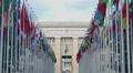Main office of United Nations Organization in Geneva, international cooperation HD Footage