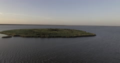 Aerial of Lake Jesup at Sunset Stock Footage