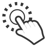 Hand pushing button icon Stock Illustration