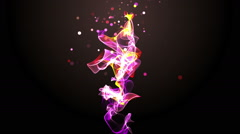 Intro with dancing particle object - stock footage