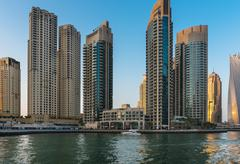 View of Dubai Marina, United Arab Emirates - stock photo