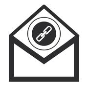 Envelope with chain link icon Stock Illustration