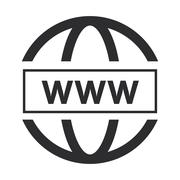 Simple www icon Stock Illustration