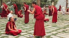 Tsuglagkhang  Monks Practice Buddhism Stock Footage