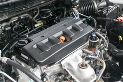 Oil Cap in an Automobile Engine Stock Photos