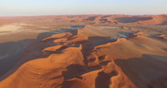 4K aerial view of endless sand dunes of the Namib desert inside the Stock Footage