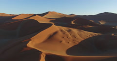 4K aerial view of endless sand dunes of the Namib desert inside the - stock footage