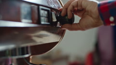 Barista Cleaning Steam Wand Stock Footage