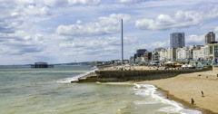 The beach in Brighton Stock Footage