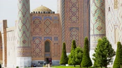 Shah-i-Zinda Complex in  Samarkand Stock Footage