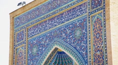 Ancient Beautiful Complex in Samarkand Stock Footage