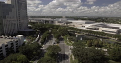 Aerial Shot Of Orange County Convention Center Stock Footage