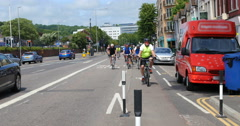 London to Brighton bike ride Stock Footage