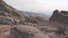 Mountainous Area in Uzbekistan Stock Footage