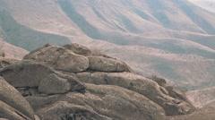 Mountainous Area in Uzbekistan - stock footage