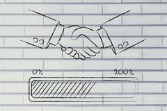 Handshake with progress bar loading Piirros