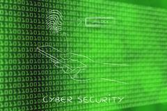 Fingerprint technology on smartphones, cyber security Piirros