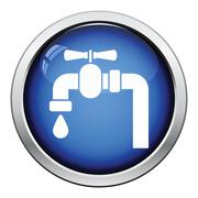 Icon of  pipe with valve Stock Illustration