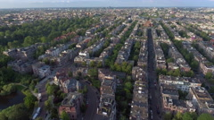 Amsterdam from the air Stock Footage