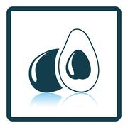 Avocado icon - stock illustration