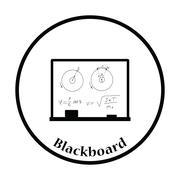 Icon of Classroom blackboard - stock illustration