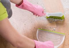 Meticulous household duties - stock photo