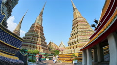 View at  Wat Pho Temple in Bangok Stock Footage