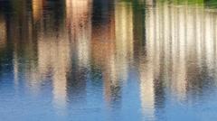 Bassano del Grappa  - Reflexes in the Brenta river - stock footage