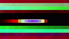 Colored Led Pannels Flickering Background Stock Footage