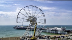 Wheel being dismantled Stock Footage