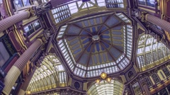Leadenhall Market in the City of London Stock Footage