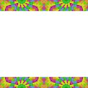 Stationery Background with Colorful Design Borders Stock Illustration