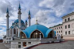 Qol Sharif Mosque in Kazan - stock photo