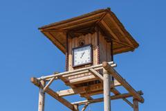 The wooden clock tower Kuvituskuvat