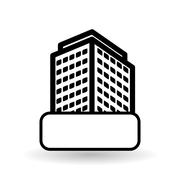 Real estate design. building concept. Property icon, vector illustration - stock illustration