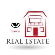 Real estate design. home concept. Property icon, vector illustration - stock illustration