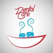 Dental care design. health concept. medical care icon - stock illustration