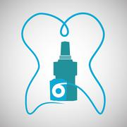 Dental care design. health concept. medical care icon Stock Illustration
